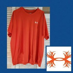 UNDER ARMOUR Orange HeatGear Mens Tshirt Size XXL